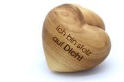 Holzherz 'Ich bin stolz auf Dich!'