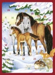 Pferde im Winterwald