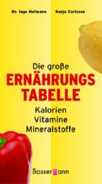 Die große Ernährungstabelle Kalorien, Vitamine, Mineralstoffe