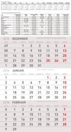 3-Monatsplaner Grau 2016