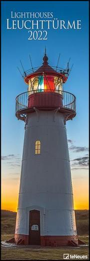 Leuchttürme 2022 - Foto-Kalender - Wand-Kalender - King-Size - 34x98