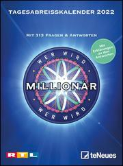 Wer wird Millionär 2022 Tagesabreißkalender - 11,8x15,9 - Rätselkalender - Knobelkalender - Tischkalender
