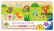 Ravensburger Kinderpuzzle - Tierkinder im Garten - 5 Teile Holzpuzzle für Kinder ab 1,5 Jahren