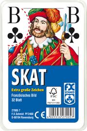 Klassisches Skatspiel, Französisches Bild - Extra große Eckzeichen