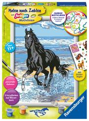 Ravensburger Malen nach Zahlen 28565 - Pferd am Strand - Kinder ab 11 Jahren
