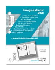 Umlege-Kalender 2022 - 8x10,8 cm - 1 Tag auf 2 Seiten - zum Einheften - Bürokalender mit 2-fach Lochung - Stundeneinteilung von 7 - 20 Uhr - 336-0000