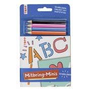 Mitbring-Minis Schablonen-Malheft mit Buntstiften - Cover