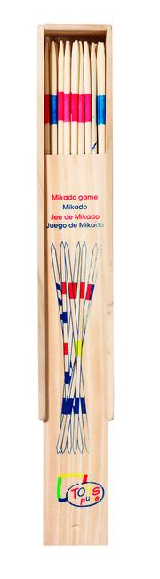 Mikado im Holzkasten