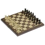 Magnetisches Schachspiel in Holzklappkassette