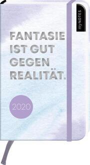 myNOTES Buchkalender 'Fantasie ist gut gegen Realität' 2020 - Cover