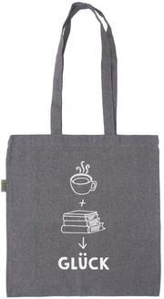Einkaufstasche 'Kaffee + Bücher = Glück' - Cover