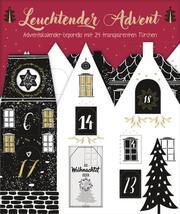 Leuchtender Advent - Motiv: Häuser schwarz/weiss