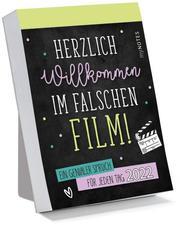 myNOTES Abreißkalender Herzlich Willkommen im falschen Film! 2022