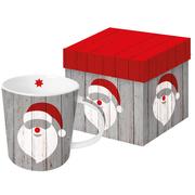 Trend Mug Gift Box 'Santa on wood'