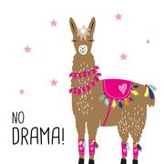 Servietten 'No Drama! Llama white'