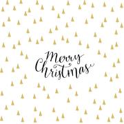 Servietten 'Merry Christmas Trees white' - Cover