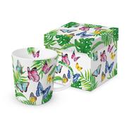Trend Mug Gift Box 'Tropical Butterflies'