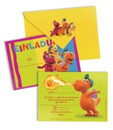 Einladungskarten-Set 'Der kleine Drache Kokosnuss'