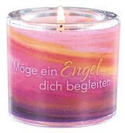 Windlicht 'Möge ein Engel dich begleiten'