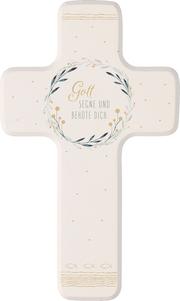 Kinderholzkreuz - Gott segne und behüte dich