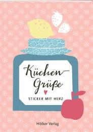 Küchengrüße - Sticker mit Herz - Cover