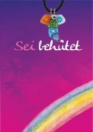 Grußkarte mit Murano-Taukreuz 'Sei behütet' - Cover