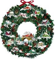 Winterhäuschen-Weihnachtskranz