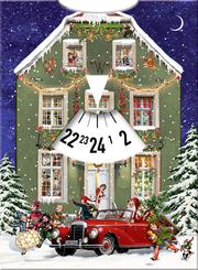 Adventskalender-Drehscheibe 'Warten auf Weihnachten'