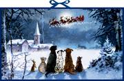 Wunderbare Hunde-Weihnacht
