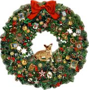 Kleiner Weihnachtskranz mit Reh