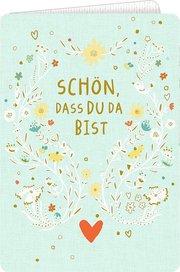 Grußkarte - Schön, dass du da bist! - Cover
