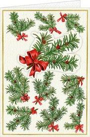 3D-Weihnachtskarte mit Kuvert - Tannenzweige (Botanische Weihnachten)