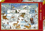 Boxpuzzle Tiere in Schneelandschaft (1000 Teile)
