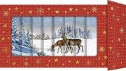 Lamellenkarte - Hirsche in Schneelandschaft - Cover