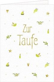 Grußkarte - Zur Taufe - Cover