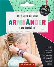 Ruck, zuck kreativ! Armbänder zum Besticken - Cover