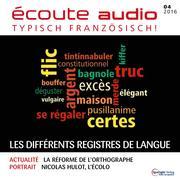 Französisch lernen Audio - Die verschiedenen Sprachregister