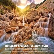 Ruisseau apaisant de montagne (sans musique) pour sommeil profond, méditation, relaxation