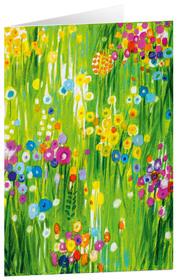 Kunstkarten 'Blütenwiese'