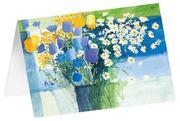 Feldwiesenstrauß - Kunst-Faltkarten ohne Text (5 Stück)