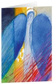 Engel aus dem Regenbogen - Kunst-Faltkarten ohne Text (5 Stück) - Cover