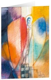 Engel im Farbspiel - Kunst-Faltkarten ohne Text (5 Stück) - Cover
