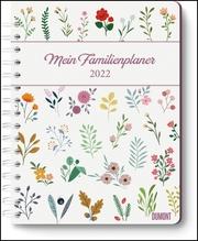 Mein Familienplaner-Buch Lovely Flowers 2022