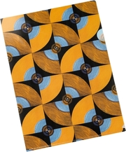WAX Bunte Sichthülle - Orange-Blaue Karos - Cover