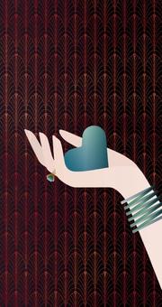 Die Macht der Liebe Schmales Notizheft Motiv Blaues Herz