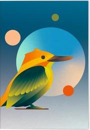 VE Vögel auf Instagram Klappkarte - Motiv Halsbandliest 5 Ex.