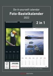 Foto-Bastelkalender 2 in 1: schwarz und weiss 2022