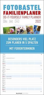 Foto-Bastel-Familienplaner weiß 2022