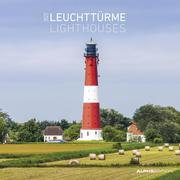 Leuchttürme 2022 - Broschürenkalender 30x30 cm (30x60 geöffnet) - Kalender mit Platz für Notizen - Wandkalender - Wandplaner - Leuchtturmkalender