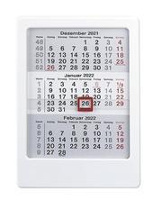 3-Monats-Tischaufsteller weiß 2022